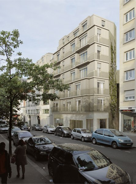 Abinal & Ropars - LOGEMENTS RUE BRANCION A PARIS, 2013
